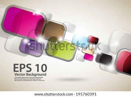 eps10 abstract vector design - multicolored geometric shapes on isolated backgound - stock vector