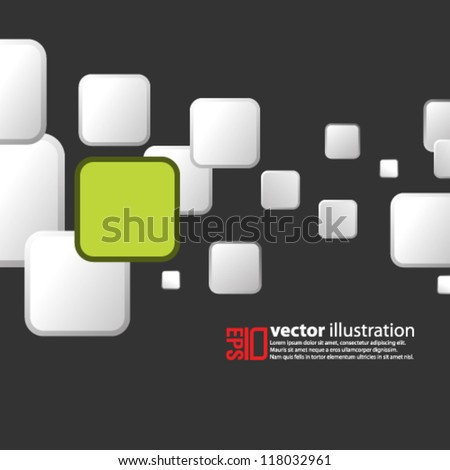 eps10 abstract vector design -  square geometric illustration on isolated background - stock vector