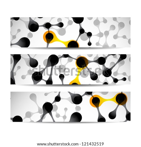 eps, beautiful structure of the DNA molecule banner - stock vector