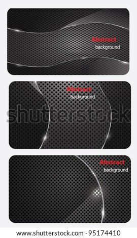 eps10, brochure business card banner metal glass abstract background style - stock vector