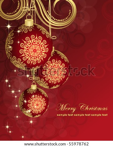 Eps Christmas card. - stock vector