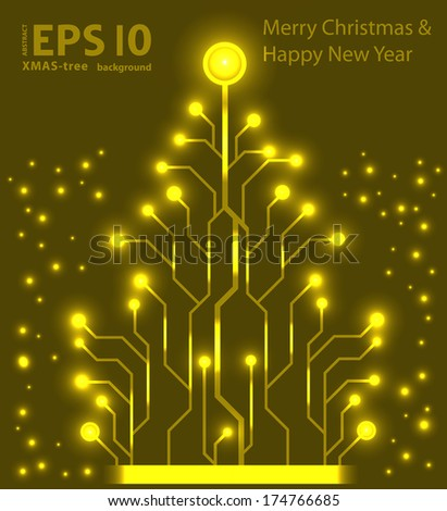 EPS10 christmas tree vector background