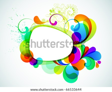 EPS10. Colorful editable frame for your design - stock vector