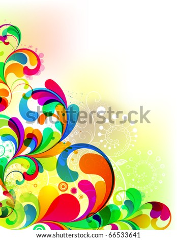 EPS10. Corner template for you cheerful design. - stock vector