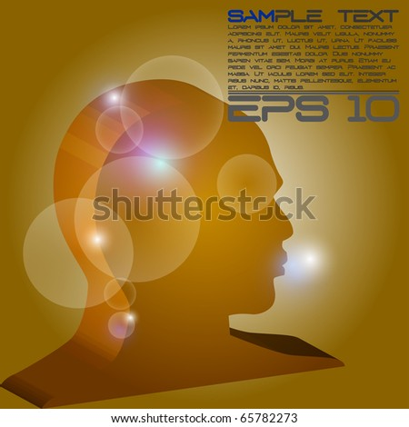 eps10 3d head - stock vector