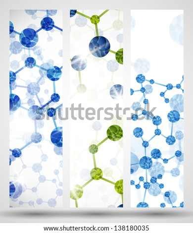 eps10, dna banner - stock vector