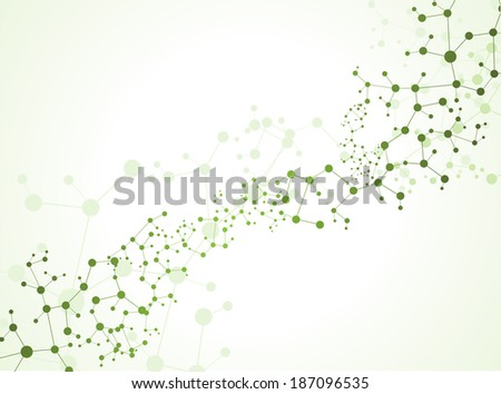 eps10, DNA molecule, abstract background  - stock vector