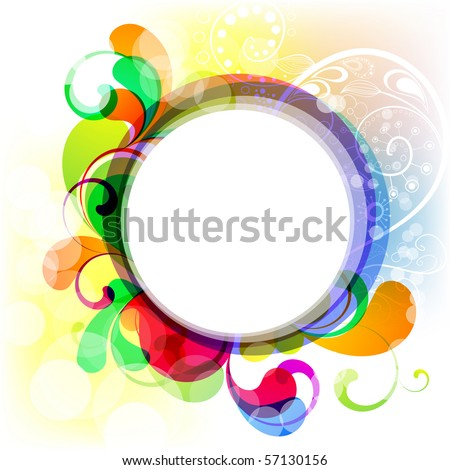 EPS10. Editable cheerful frame for your design - stock vector
