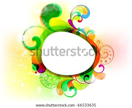EPS10. Editable frame for your colorful design. - stock vector