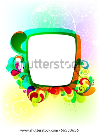 EPS10. Editable funny frame for your design. - stock vector