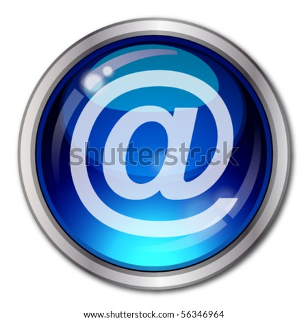 Eps10 Email Vector Button Illustration for your design.