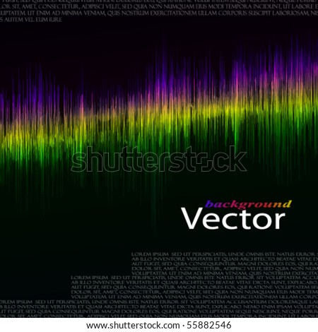 Eps equalizer - stock vector