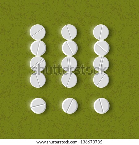 eps, exclamation mark of the pills