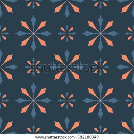 EPS10 file. Seamless floral geometric pattern. Vintage background.