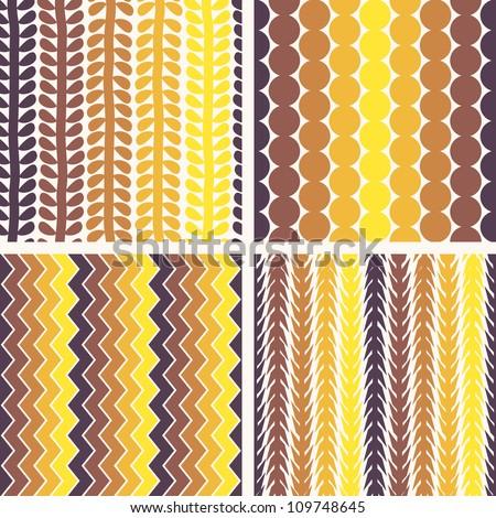 EPS10 file. Seamless retro geometric pattern - stock vector
