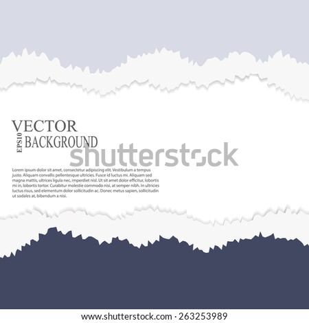 EPS10 file.  tear paper brochure background  blue color - stock vector