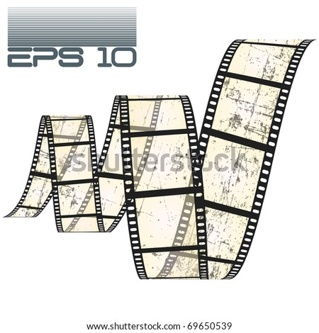 eps10 filmstrip grungy - stock vector