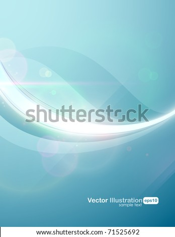 Eps10. Fresh design idea with shining element to attract attention to your message. Fully editable. RGB gamut. - stock vector