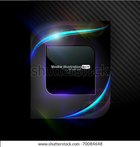 EPS10. Fully editable dark luxury design with bright elements to attract attention to your message. - stock vector