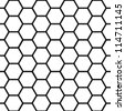 EPS 10: Graphic seamless pattern made of black honeycomb pattern over white. - stock