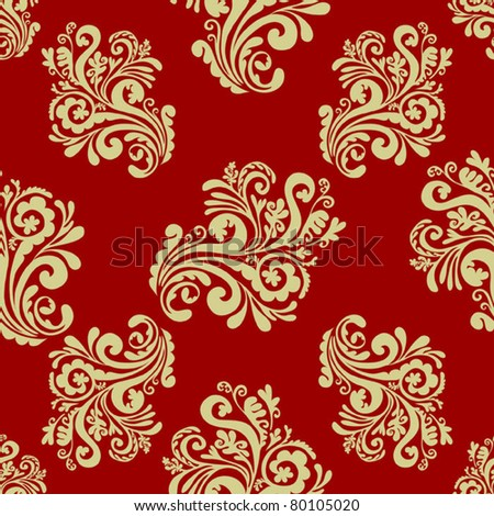 EPS 10, Hand-drawn seamless pattern with decorative floral ornament (beautiful retro style)