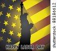 eps10 happy labor day - illustration - stock vector