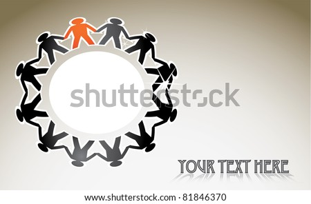 eps10 human figures in a circle - illustration - stock vector