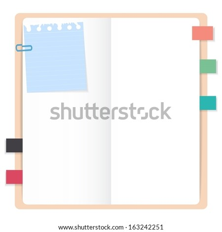 Eps10 illustration : Note book concept - stock vector