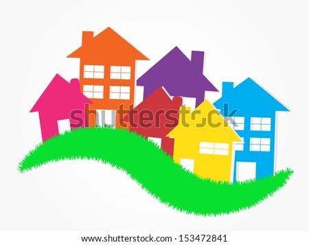 Eps10 illustration : Real Estate Concept - stock vector