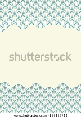 Eps10 Illustration : Seamless Wave Pattern Background - stock vector