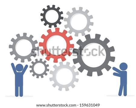 Eps10 illustration : Teamwork concept - stock vector