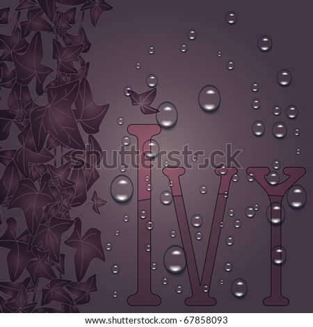 eps10 ivy border - stock vector
