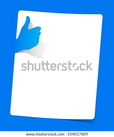 eps10, like in the form of a sticker sheet of paper sandwiched - stock vector