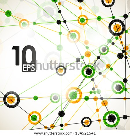 eps10, molecular structure, abstract background