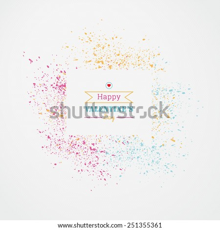 EPS10 paper design speech bubble with watercolor splash for web page banner, wallpaper, brochure cover - valentine's day version - stock vector