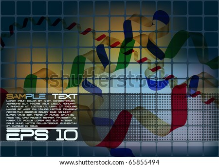 eps10 ribbon background - stock vector