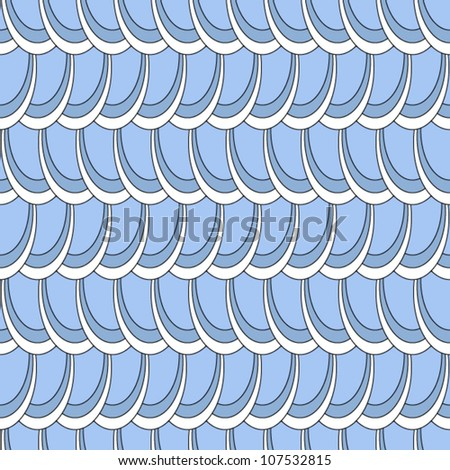 EPS 10: Seamless pattern, fun and dynamic elliptic pattern in shades of grey an blue, great wallpaper. - stock vector