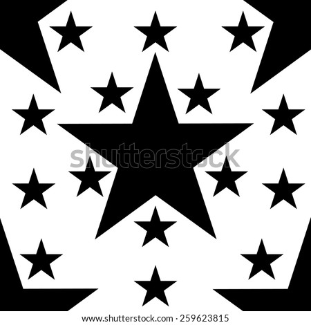 Eps 8 Seamless pattern with stars - stock vector