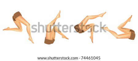 EPS8 set of gradient mesh realistic woman legs - illustration