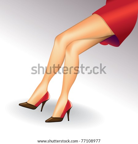 eps10 sexy woman legs with shoes - realistic illustration