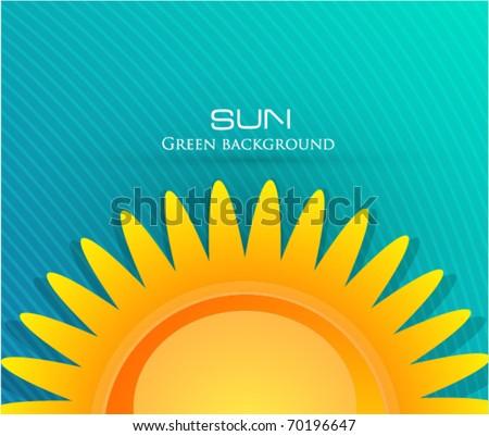 eps10 sun background - stock vector