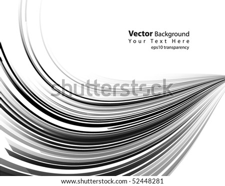 eps10 transparency vector abstract black lines - stock vector