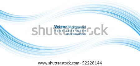 eps10 transparency vector abstract blue lines - stock vector