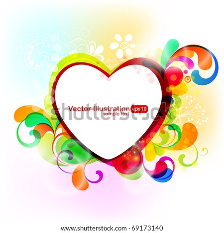 EPS10. Ultracheerful heart illustration. Enjoy! - stock vector