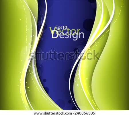 Eps10 Vector Abstract Background Design for your Business - stock vector