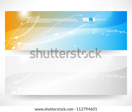 eps10 vector abstract banner design - stock vector