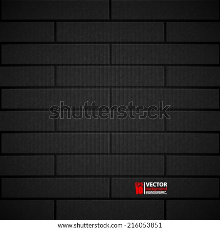 eps10 vector abstract bricked wall grungel background design  - stock vector