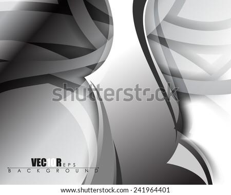 eps10 vector abstract chrome metallic background illustration - stock vector