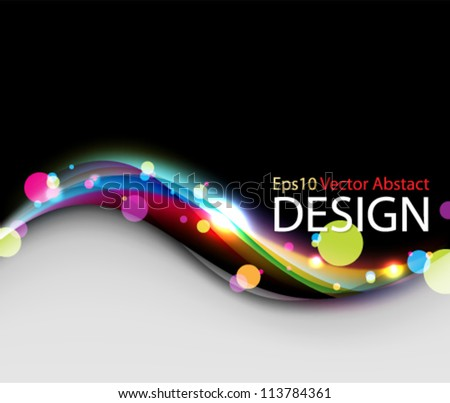 Eps10 Vector Abstract Colorful Background Design - stock vector