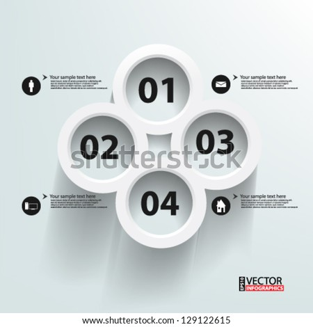 Eps10 Vector Abstract 3d Circles infographics - stock vector
